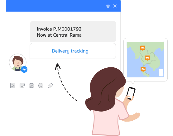 Delivery tracking right in Facebook Messenger